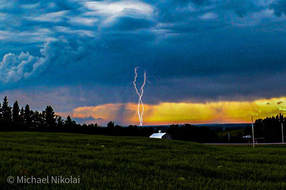 Timing is everything for this severe weather photographer