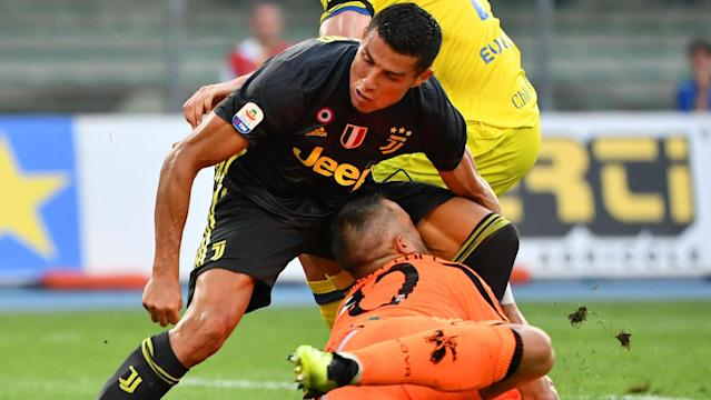 The new Juventus man wished the Chievo goalkeeper a speedy recovery after the two clashed in Saturday's game
