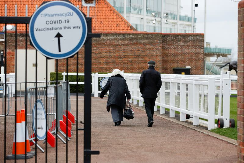 COVID-19 vaccination at Newmarket Racecourse