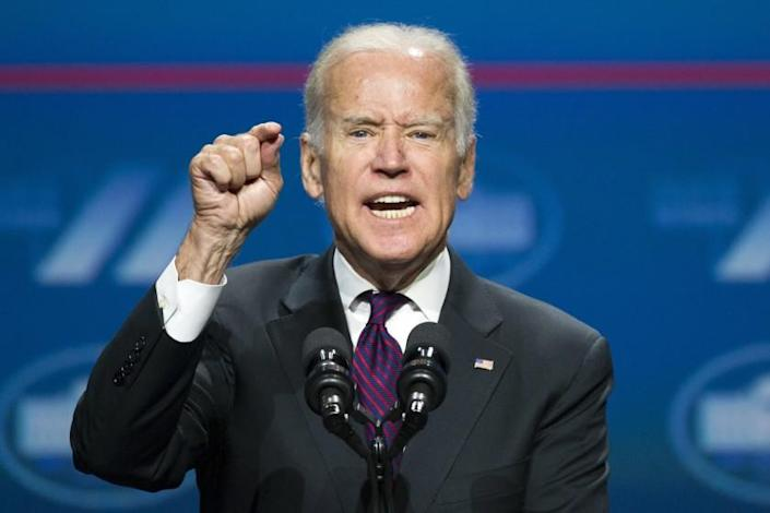 """Former Vice President Joe Biden suggested that he would name his running mate about Aug. 1. <span class=""""copyright"""">(Cliff Owen / Associated Press)</span>"""