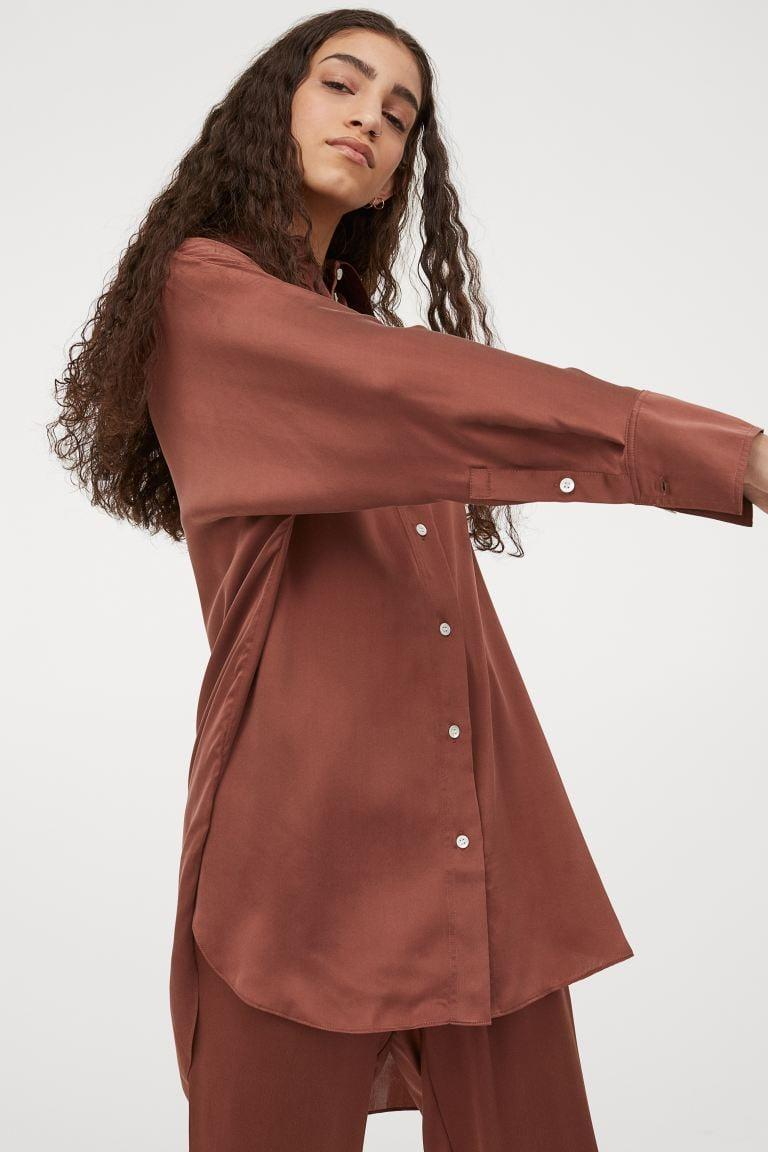 <p>This <span>Mulberry Silk Shirt Tunic</span> ($129) is a great choice for dinner, happy hour, or lounging at home.</p>