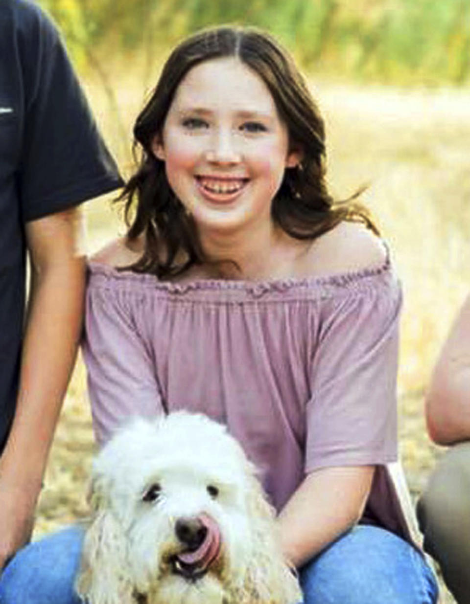 This undated photo provided by the Muehlberger family shows Gracie Anne Muehlberger, 15. She is one of two students who died when Nathaniel Tennosuke Berhow opened fire at Saugus High School in Santa Clarita, Calif., Thursday, Nov. 14, 2019. Berhow, 16, planned the attack at the Southern California high school, but investigators were so far unable to find out why he brought a gun to campus and opened fire, authorities said Friday. (Muehlberger family via AP)
