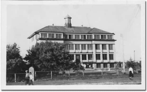 The former McKay Residential School is pictured.