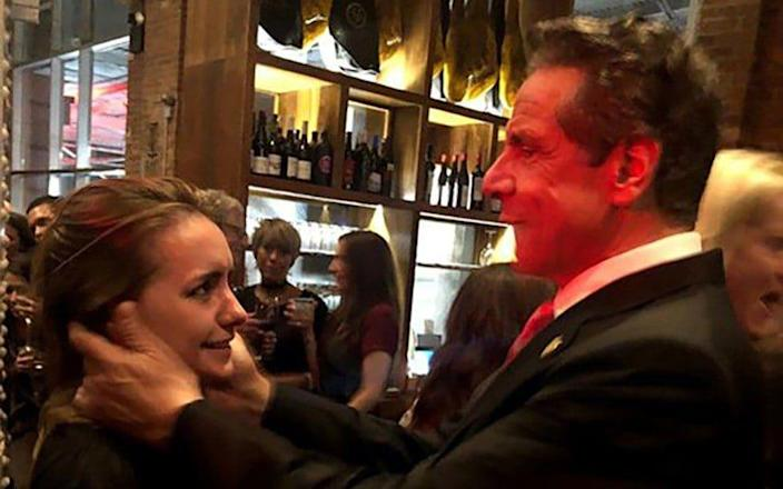 Gov. Andrew M. Cuomo with Anna Ruch