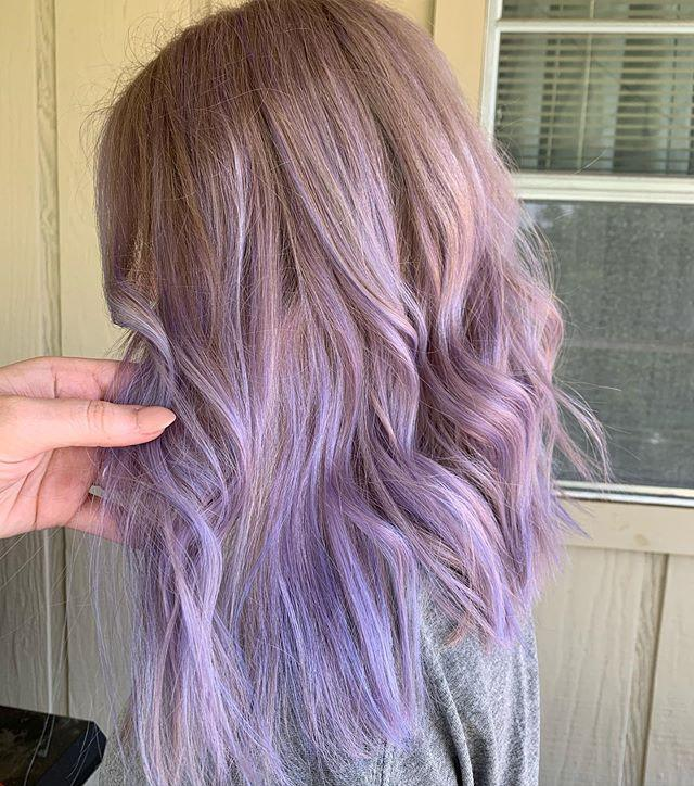 "<p>Okay, I don't get why <a href=""https://www.cosmopolitan.com/style-beauty/beauty/advice/a6009/most-amazing-ombre-hairstyles/"" rel=""nofollow noopener"" target=""_blank"" data-ylk=""slk:ombré"" class=""link rapid-noclick-resp"">ombré</a> isn't trending 100 percent of the time when photos like this exist. If your <strong>gradual highlights are super soft and blended</strong> (like this bright lavender hue here), you can get such a pretty finish.</p><p><a href=""https://www.instagram.com/p/CBYdGdjj6wI/"" rel=""nofollow noopener"" target=""_blank"" data-ylk=""slk:See the original post on Instagram"" class=""link rapid-noclick-resp"">See the original post on Instagram</a></p>"