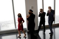 Britain's Prince Harry and Meghan, Duke and Duchess of Sussex, visit One World Trade Center in Manhattan, New York City