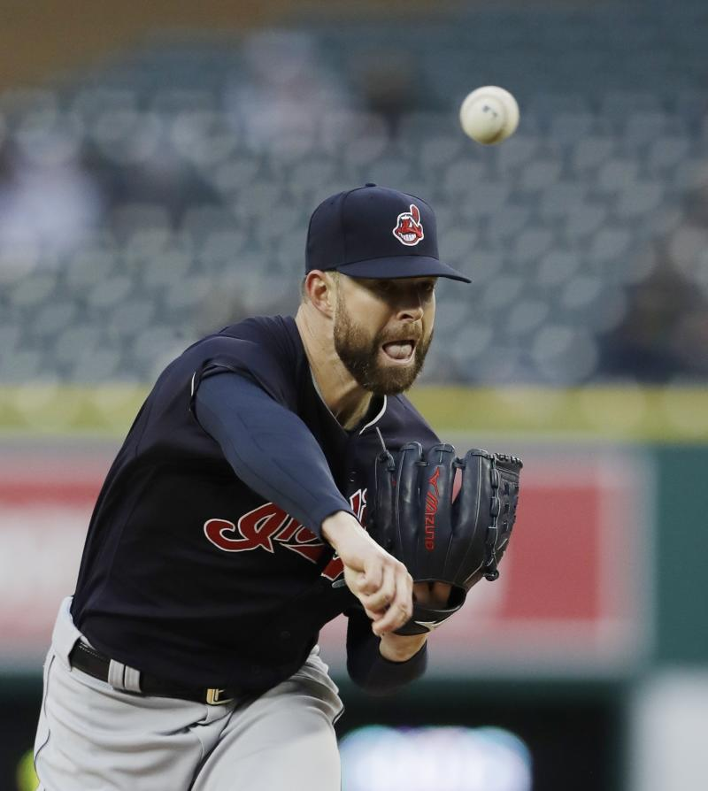 Carlos Carrasco trying to steady the Cleveland Indians' unsteady starting rotation