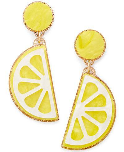 "<p>Celebrate Shop Fruit Earrings, $7.99, <a href=""https://www.polyvore.com/celebrate_shop_fruit_earrings/thing?id=211309255"" rel=""nofollow noopener"" target=""_blank"" data-ylk=""slk:macys.com"" class=""link rapid-noclick-resp"">macys.com</a><br><br></p>"