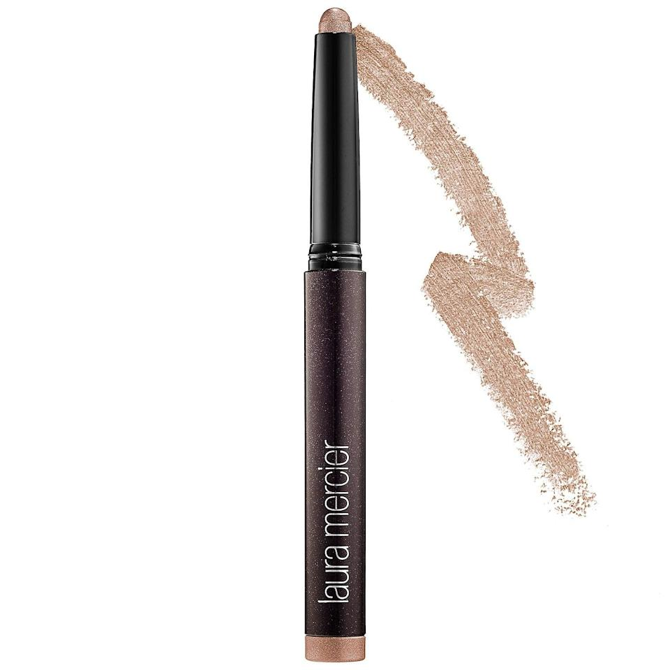 <p>This long-wearing <span>Laura Mercier Caviar Stick Eye Shadow</span> ($29) can serve as a liner or a shadow, depending on the brush that blends it out (if any, of course). The creamy shimmer, matte, and metallic options are also crease-resistant and transfer-proof, which makes them extra popular in hot weather.</p>