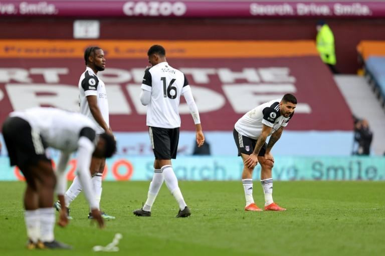 On their knees: Time is running out for Fulham to save themselves from relegation