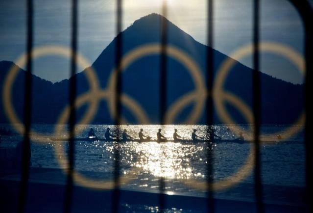 Rowers at the Summer Olympics in Rio. (AP)