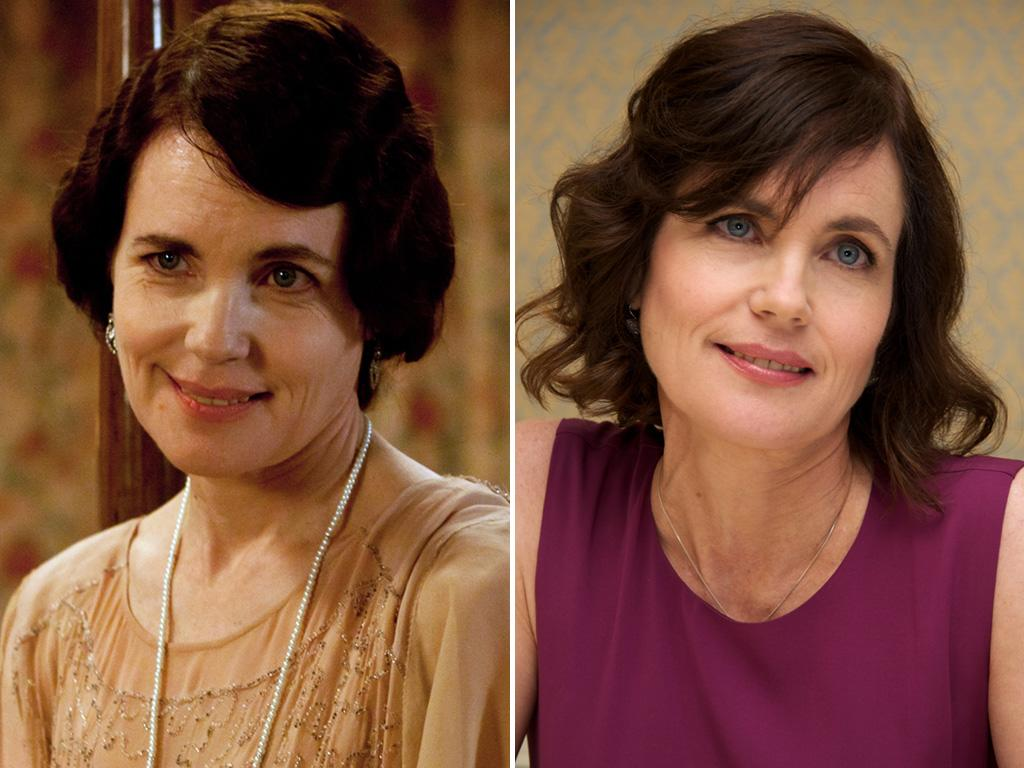 <p>Bonneville's onscreen wife, <strong>Elizabeth McGovern</strong>, is able to let her hair down when she's not playing Lady Cora. She still looks like she runs the house, though.</p>