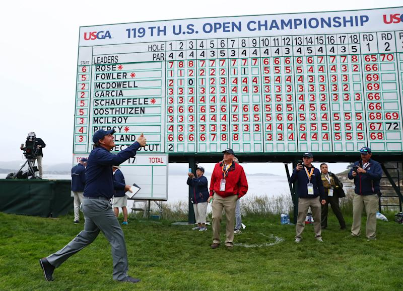Phil Mickelson fell short in another U.S. Open. (Reuters)