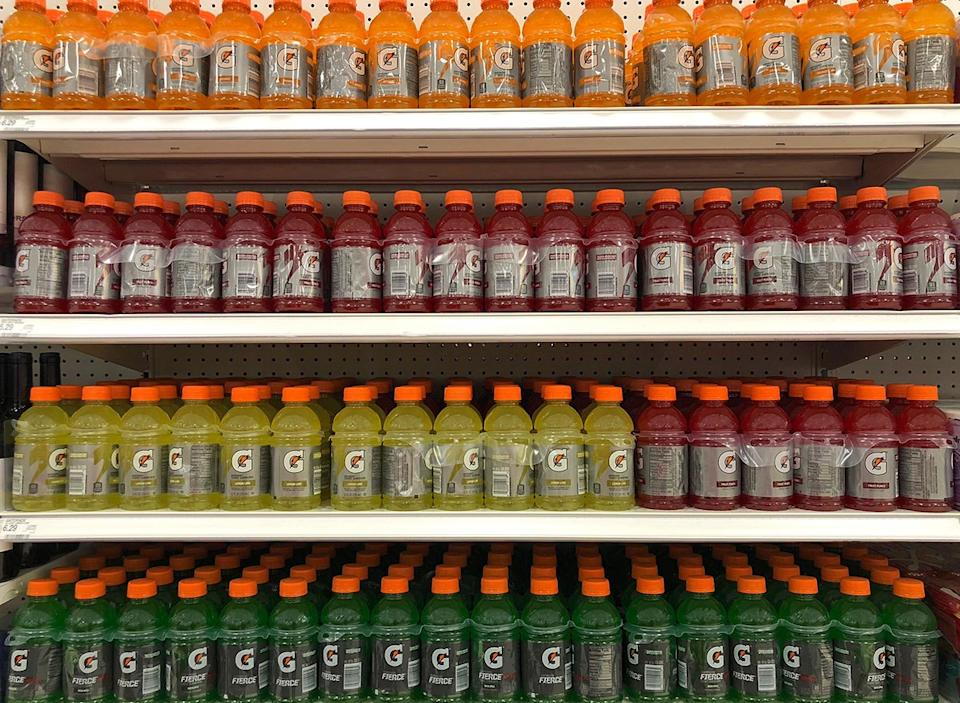 gatorade bottles in aisle