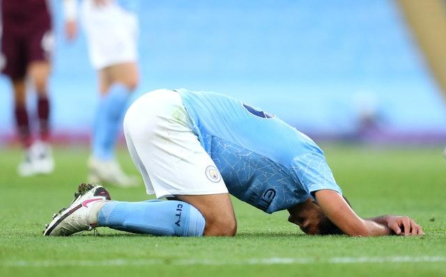 The heavy loss was a frustrating one for Rodri