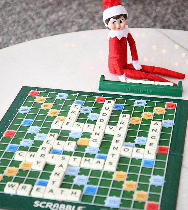 """<p>Breakout your <a href=""""https://www.goodhousekeeping.com/childrens-products/board-games/g19724764/best-word-board-games/"""" rel=""""nofollow noopener"""" target=""""_blank"""" data-ylk=""""slk:Scrabble board"""" class=""""link rapid-noclick-resp"""">Scrabble board</a> for this elf on the shelf setup — bonus points if you play Christmas-themed words!</p><p><a href=""""https://www.instagram.com/p/B6Z406VFRMU/&hidecaption=true"""" rel=""""nofollow noopener"""" target=""""_blank"""" data-ylk=""""slk:See the original post on Instagram"""" class=""""link rapid-noclick-resp"""">See the original post on Instagram</a></p>"""