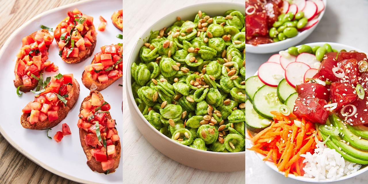 """<p>Lunch is an extremely important <a href=""""https://www.delish.com/uk/cooking/recipes/"""" target=""""_blank"""">meal</a> of the day. Why? Well, without that break from work, how else will you get that much-needed midday motivation? To help you out, we've pulled together a selection of our favourite lunch recipes in a bid to provide you with some inspiration for your next lunchtime meal. Whether you fancy something along the lines of a <a href=""""https://www.delish.com/uk/cooking/recipes/a31012341/thai-beef-salad/"""" target=""""_blank"""">Thai Beef Salad</a> (it tastes as good as it sounds) or a simple <a href=""""https://www.delish.com/uk/cooking/recipes/a29620456/best-roasted-butternut-squash-soup-recipe/"""" target=""""_blank"""">Roasted Butternut Squash Soup</a>, we've got plenty of healthy lunch recipes for you to choose from.</p>"""