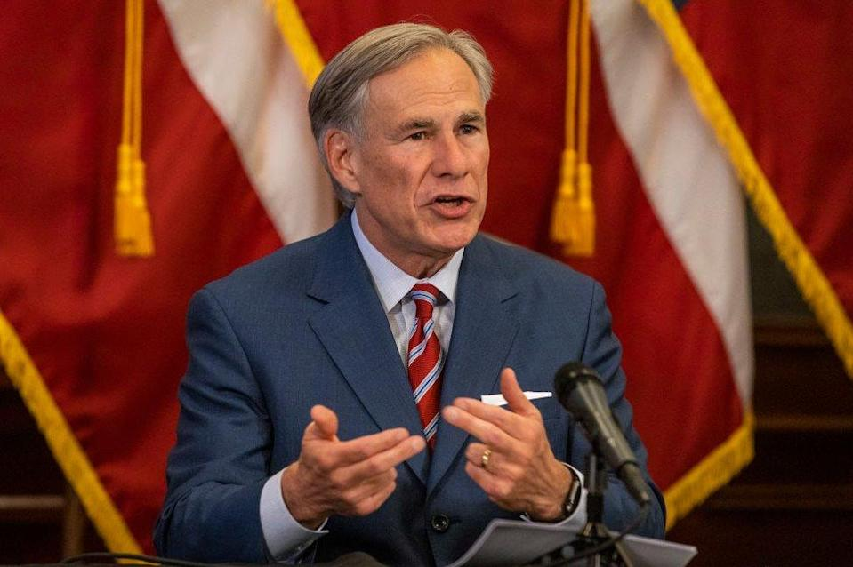 Texas Governor Greg Abbott pictured on May 18, 2020 in Austin, Texas.