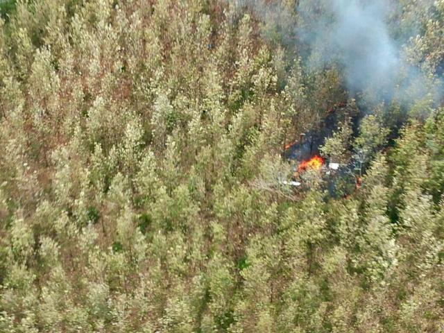 <p>This photo released by Costa Rica's Public Safety Ministry shows smoke rising from the site of a plane crash in Punta Islita, Guanacaste, Costa Rica, Sunday, Dec. 31, 2017. (Photo: Costa Rica's Public Safety Ministry via AP) </p>