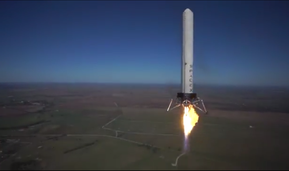 SpaceX's Reusable 'Grasshopper' Rocket Soars in Highest Test Flight Yet (Video)
