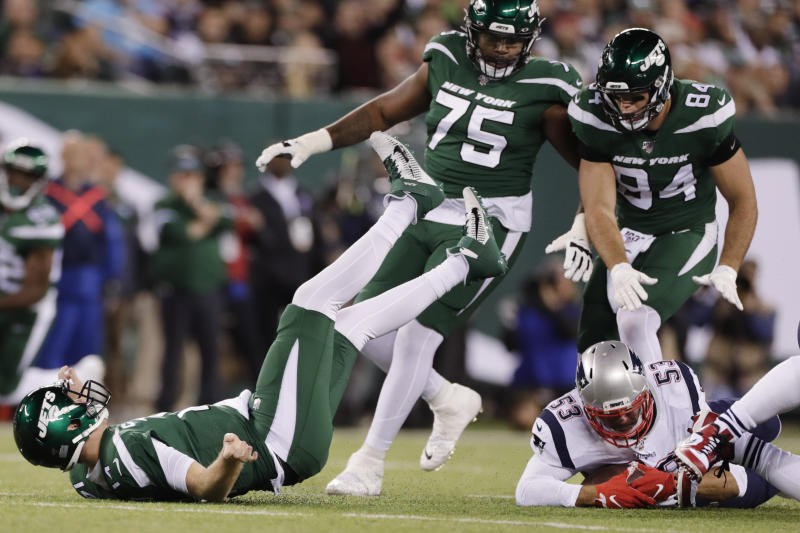 Jets hope to learn, improve from brutal loss to Patriots