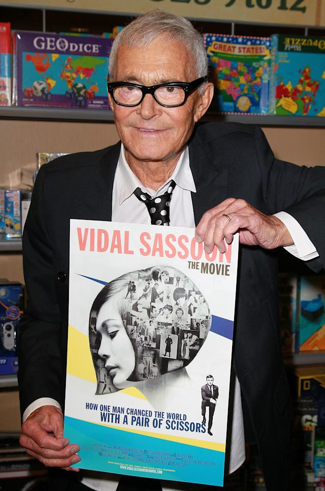 "SANTA MONICA, CA - SEPTEMBER 06:  Hairstylist Vidal Sassoon attends the ""Vidal Sassoon: The Movie"" event at Barnes & Noble on September 6, 2011 in Santa Monica, California.  (Photo by David Livingston/Getty Images)"