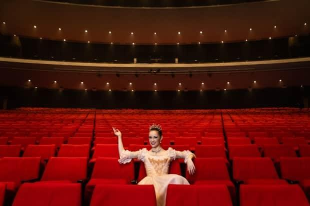 The Royal Winnipeg Ballet, including Katie Bonnell, who will perform in The Nutcracker, looks forward to seeing an audience in the seats again. (Kristen Sawatzky/Royal Winnipeg Ballet - image credit)