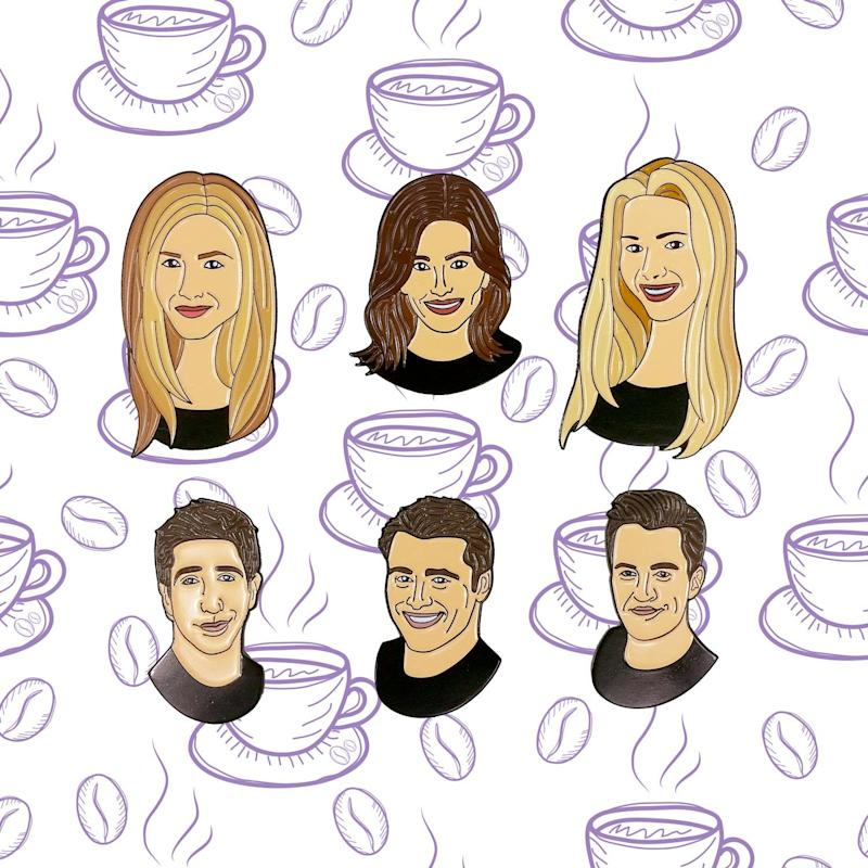 Friends Faces Enamel Pin Set Friends