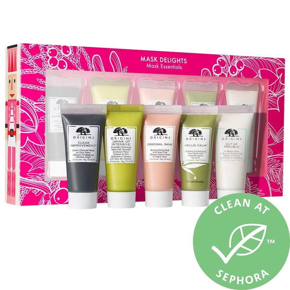 <p>You can't go wrong with this <span>Origins Mask Delights Mask Essentials Set</span> ($20).</p>
