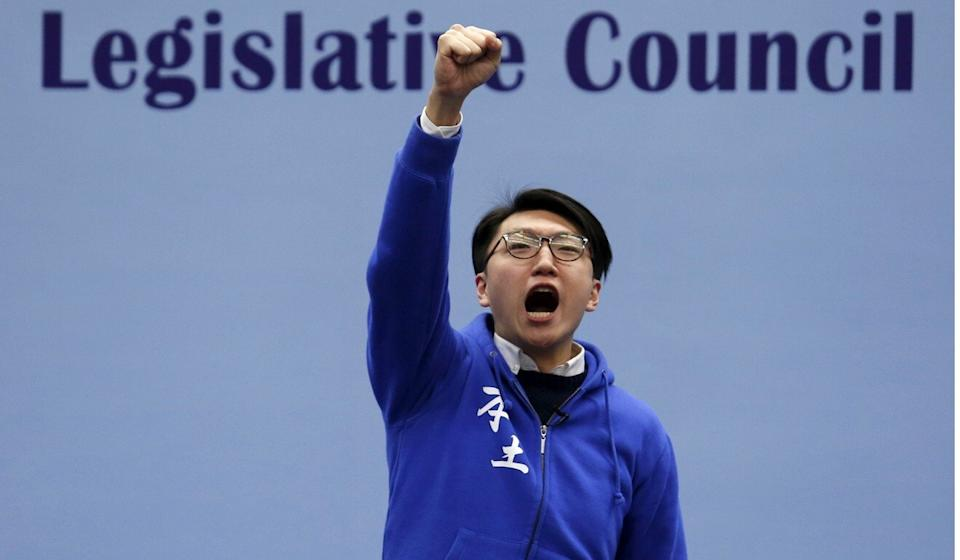 Edward Leung won 15 per cent of the vote in a Legco by-election. Photo: Reuters