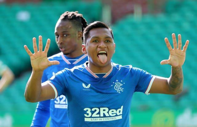 Alfredo Morelos scored his first Old Firm derby goal for Rangers (Andrew Milligan/PA)