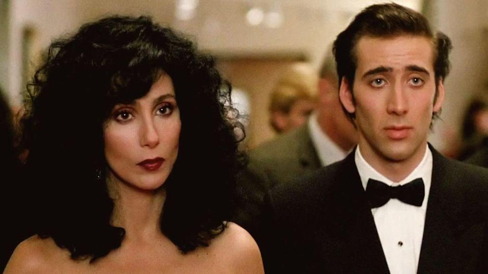 """<p>From Nicholas Cage and Cher's palpable chemistry to witty yet heartfelt dialogue, there are endless reasons to watch <em>Moonstruck</em>. You'll never look at the moon (or the opera, or even bakeries) the same way again. </p><p><a class=""""link rapid-noclick-resp"""" href=""""https://www.amazon.com/Moonstruck-Cher/dp/B07JBYKN6S?tag=syn-yahoo-20&ascsubtag=%5Bartid%7C10072.g.33383086%5Bsrc%7Cyahoo-us"""" rel=""""nofollow noopener"""" target=""""_blank"""" data-ylk=""""slk:Watch Now"""">Watch Now</a></p>"""