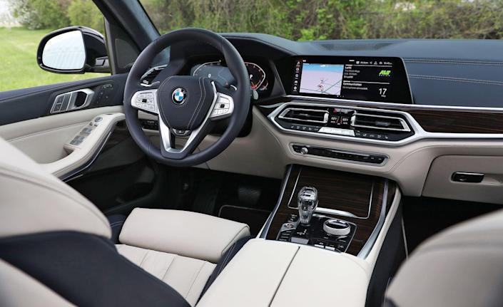 """<p>At 70 mph, noise from the outside is largely subdued within the cabin with just a <a href=""""https://www.caranddriver.com/news/a28006624/bmw-x7-quiet-interior-test/"""" rel=""""nofollow noopener"""" target=""""_blank"""" data-ylk=""""slk:64-decibel whisper"""" class=""""link rapid-noclick-resp"""">64-decibel whisper</a>. That is quieter than the last Mercedes-Benz S-class and Lexus LS we tested.</p>"""