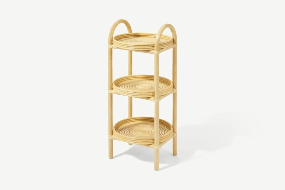 """<strong>Under £150</strong><br><br>From body scrubs to hair masks, my bathroom is filled to bursting with toiletries – and I've nowhere to put them. This rattan storage caddy will help me tidy up a bit!<br><br><br><br><strong>Made.com</strong> Nala Freestanding Storage Caddy, Natural Rattan, $, available at <a href=""""https://www.made.com/nala-freestanding-storage-caddy-natural-rattan"""" rel=""""nofollow noopener"""" target=""""_blank"""" data-ylk=""""slk:Made.com"""" class=""""link rapid-noclick-resp"""">Made.com</a>"""