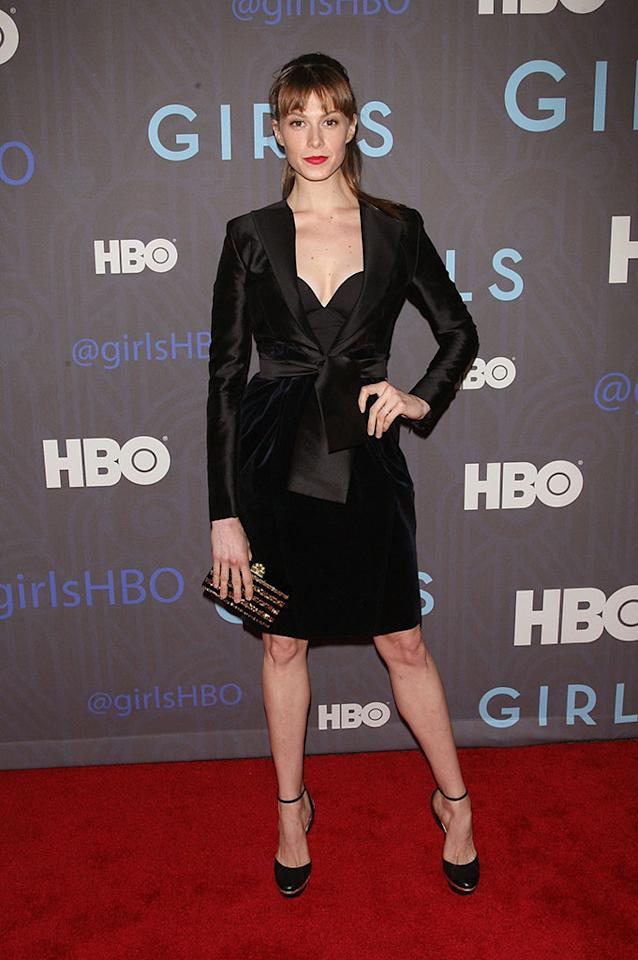 "Elettra Wiedemann attends HBO's premiere of ""Girls"" Season 2 at the NYU Skirball Center on January 9, 2013 in New York City."