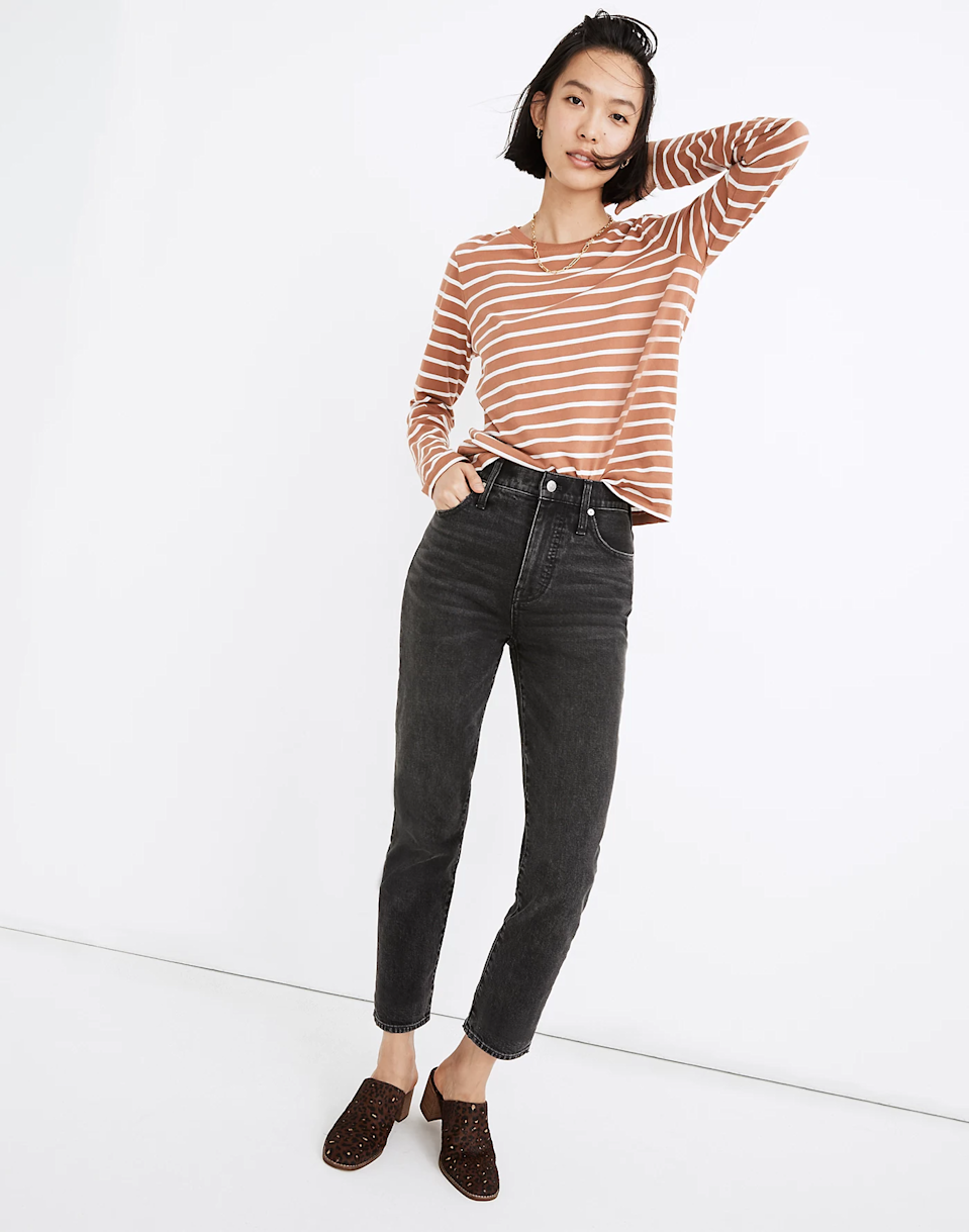 """<br><br><strong>Madewell</strong> The Perfect Vintage Ankle Jean, $, available at <a href=""""https://go.skimresources.com/?id=30283X879131&url=https%3A%2F%2Fwww.madewell.com%2Fthe-perfect-vintage-ankle-jean-in-claybrook-wash-MB403.html%3Fdwvar_MB403_color%3DDM4435%26cgid%3Dwomens-megafolder-jeans%23gridtype%3Dfour-up%26start%3D28"""" rel=""""nofollow noopener"""" target=""""_blank"""" data-ylk=""""slk:Madewell"""" class=""""link rapid-noclick-resp"""">Madewell</a>"""