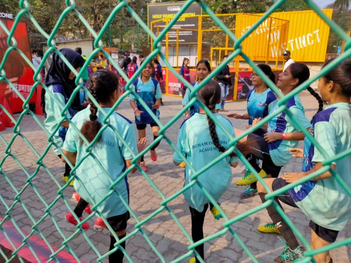 In 2012, Sabah Khan was approached by a friend who was working with Magic Bus, an NGO focusing on kids'education, to start a football programme in Mumbra