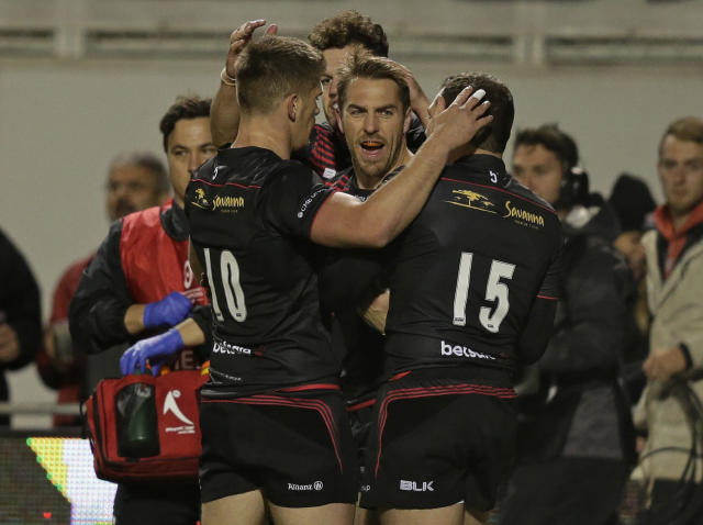 Saracens recorded their 20th unbeaten match in the Champions Cup with a 36-34 win over Ospreys: Getty
