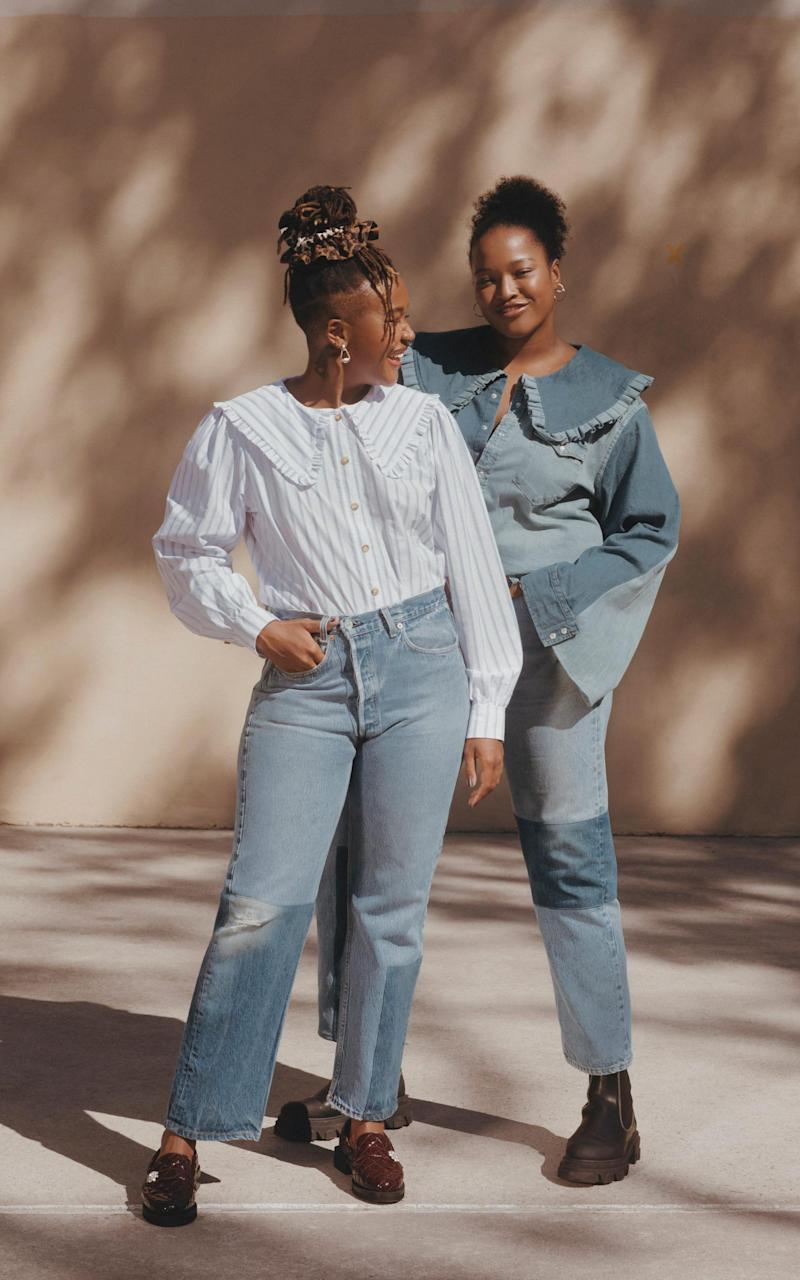 Kimberly Drew and Imani Randolph wearing the collection in New York - Adrienne Racquel