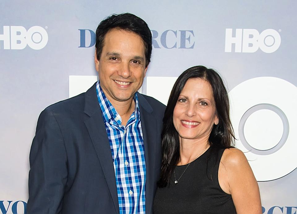 NEW YORK, NY - OCTOBER 04:  Actor Ralph Macchio and wife, Nurse practitioner, Phyllis Fierro attend the 'Divorce' New York Premiere at SVA Theater on October 4, 2016 in New York City.  (Photo by Gilbert Carrasquillo/FilmMagic)