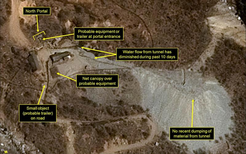 Punggye-ri nuclear test site - Pleiades CNES/Airbus DS/38 North/Spot Image