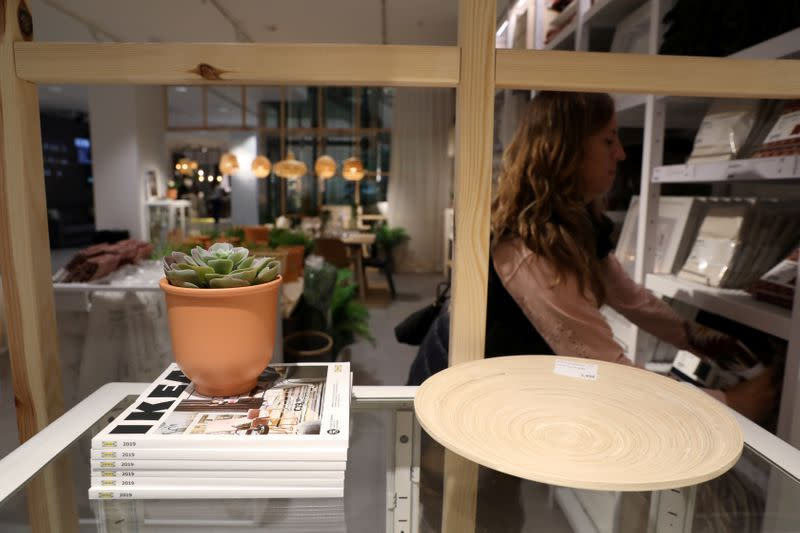 FILE PHOTO: A customer shops at an IKEA store in Madrid