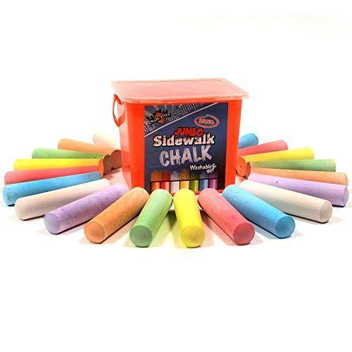 """<p><strong>Chalk City</strong></p><p>amazon.com</p><p><strong>$9.99</strong></p><p><a href=""""https://www.amazon.com/dp/B071CKSMS7?tag=syn-yahoo-20&ascsubtag=%5Bartid%7C10070.g.35270327%5Bsrc%7Cyahoo-us"""" rel=""""nofollow noopener"""" target=""""_blank"""" data-ylk=""""slk:Shop Now"""" class=""""link rapid-noclick-resp"""">Shop Now</a></p><p>Invest in some chalk and decorate your sidewalk for a fun, outdoors-focused craft. It'll be a blast and probably make your neighbors smile. Plus, since its spring, odds are that the rain will wash it away relatively quickly.</p>"""