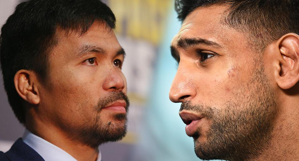 Amir Khan and Manny Pacquiao's match has been set for 9 November. (Getty)