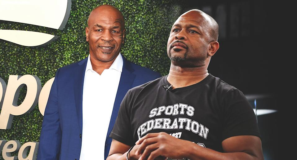 Former undisputed heavyweight champion Mike Tyson will face ex-champ Roy Jones on Sept. 12 in an exhibition bout at Dignity Health Sports Park in Carson, California. (Amber Matsumoto/Yahoo Sports)
