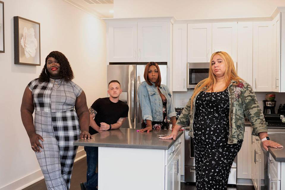 From left: Staff members Meloney Washington, Ben Collongues, Milan Sherry, and Mariah Moore at the House of Tulip.