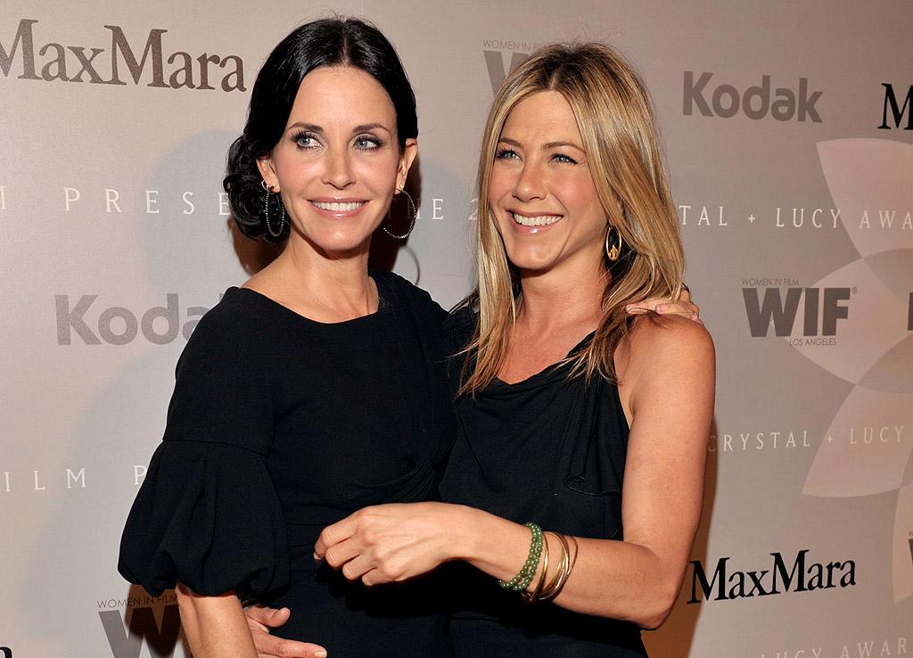 "Jennifer Aniston and Courteney Cox have finally reunited after a ""major falling out,"" reveals RadarOnline. The site says the two actresses ""used to be very close,"" but stopped talking ""around the time Jen got together with boyfriend Justin Theroux."" For what their feud was over, plus juicy details on their tearful reunion, click over to <a target=""_blank"" href=""http://www.gossipcop.com/jennifer-aniston-courteney-cox-make-up-feud-fight-justin-theroux-soho-house-july-2012/"">Gossip Cop</a>."