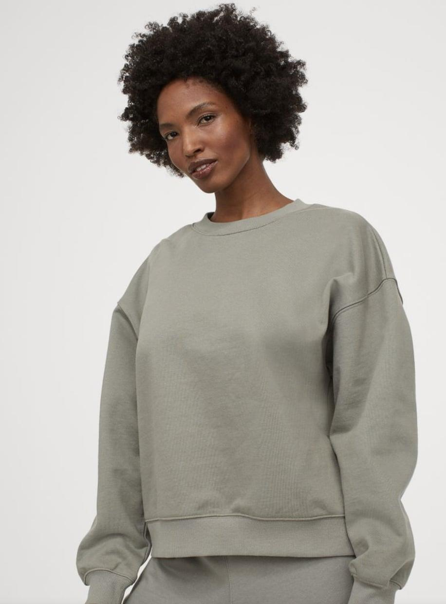<p>Add a hint of color to your outfit with this <span>Sweatshirt</span> ($25).</p>