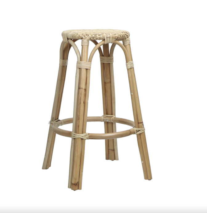 """<p>shopcourtneybarton.com</p><p><strong>$240.00</strong></p><p><a href=""""https://shopcourtneybarton.com/products/rattan-counter-stool?_pos=3&_sid=3c3eb4b9c&_ss=r"""" rel=""""nofollow noopener"""" target=""""_blank"""" data-ylk=""""slk:Shop Now"""" class=""""link rapid-noclick-resp"""">Shop Now</a></p><p>Great for the kitchen island or an outdoors game table, <a href=""""https://shopcourtneybarton.com/"""" rel=""""nofollow noopener"""" target=""""_blank"""" data-ylk=""""slk:Courtney Barton's"""" class=""""link rapid-noclick-resp"""">Courtney Barton's</a> rattan stools feel relaxed with a cool, vintage 70s vibe. </p>"""