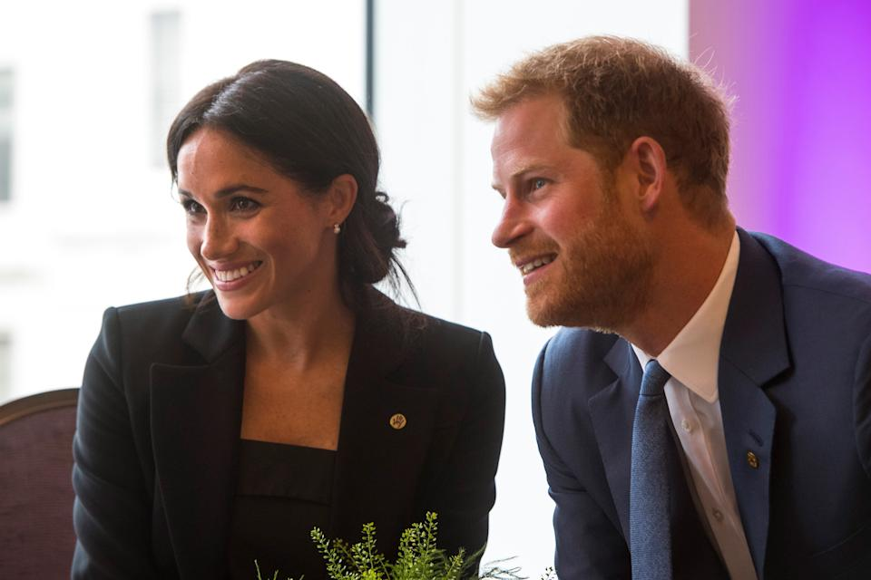 Meghan Markle et le prince Harry le 4 septembre 2018 à Londres - Victoria Jones - Pool - AFP